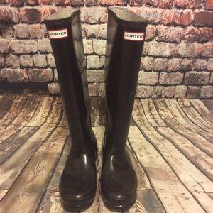 """Hunter boots """"original gloss"""" tall boots"""